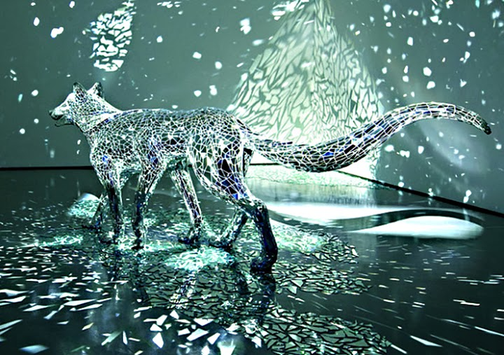 Sculptures Covered in Mirror Shards