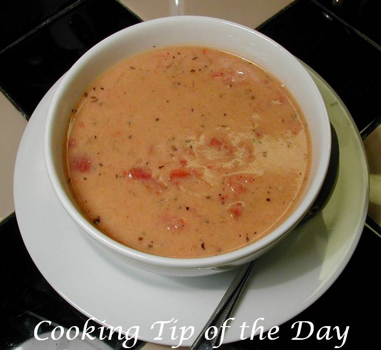 Cooking Tip of the Day: Recipe: Creamy Tomato Parmesan Soup