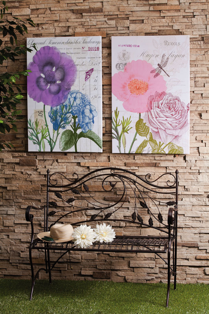 Exterior decorating display artwork outside with outdoor canvas from cape craftsmen