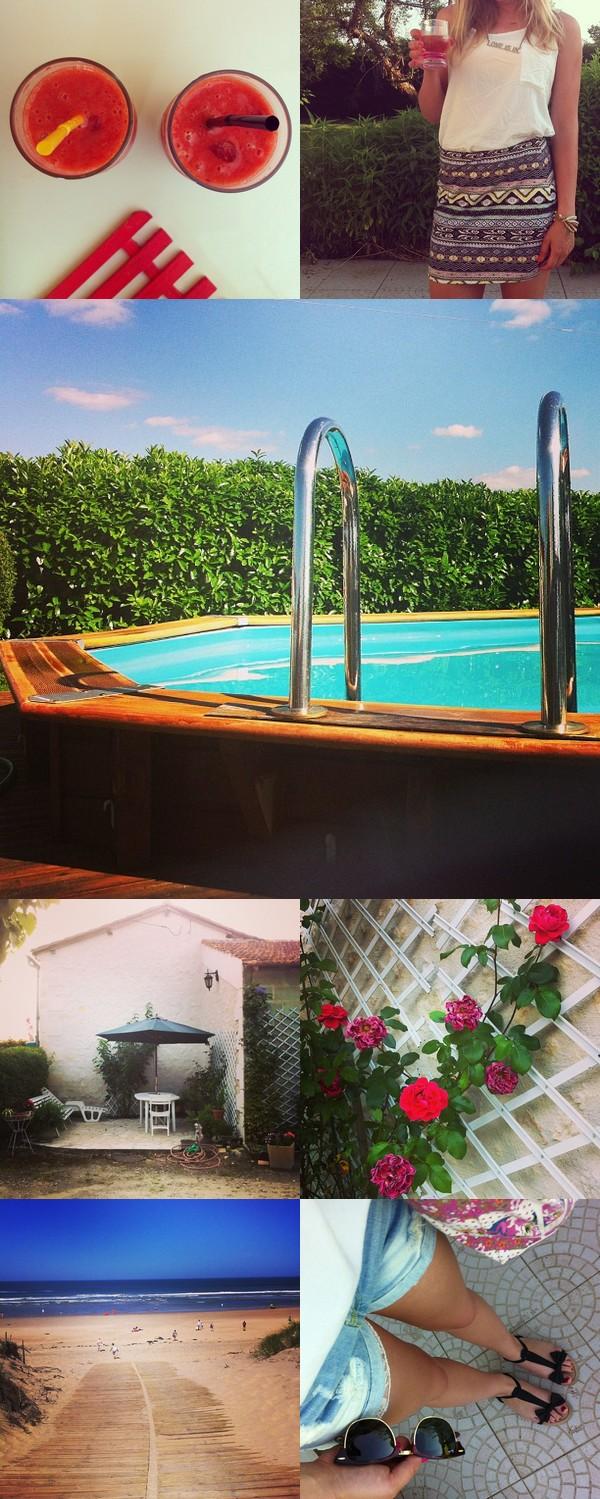 Vacances soleil été Instagram