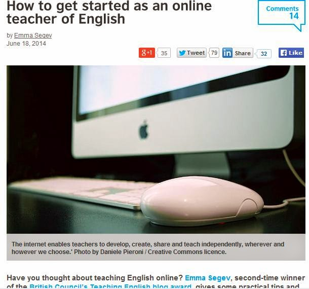 http://blog.britishcouncil.org/2014/06/18/how-to-get-started-as-an-online-teacher-of-english/