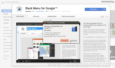 Instalando o Black Menu no Google Chrome