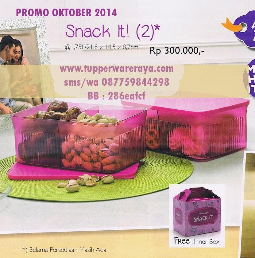 Tupperware Promo Oktober 2014 Snack IT