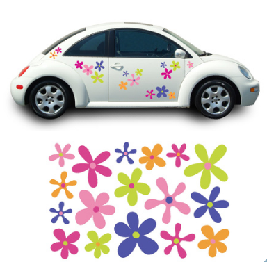 car stiker: Flower Car Stickers-The Best Car Sticker Inspirate