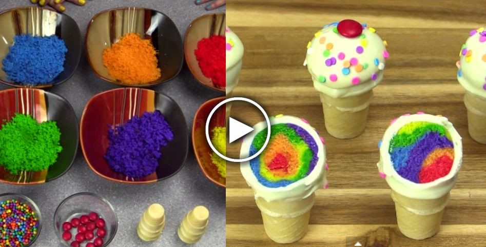 Rainbow Ice Cream Pops Recipe — Dishmaps