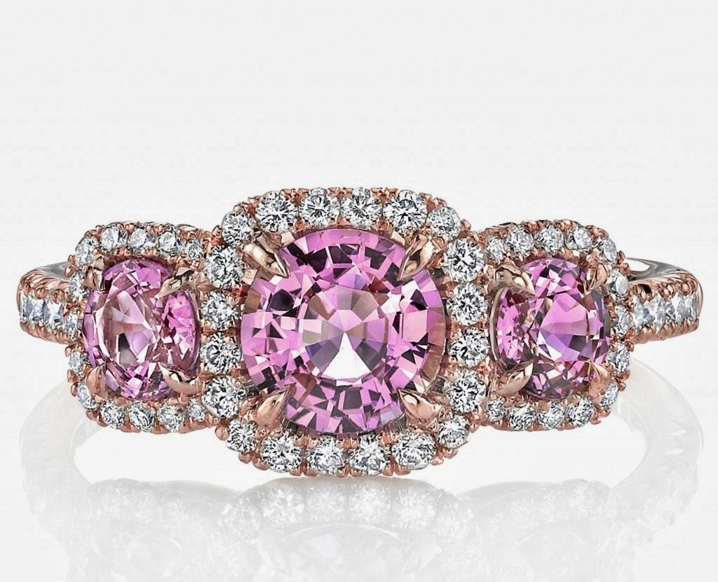 Pink Saphire Wedding Rings 011 - Pink Saphire Wedding Rings