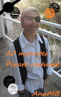 10 minutes pirate costume
