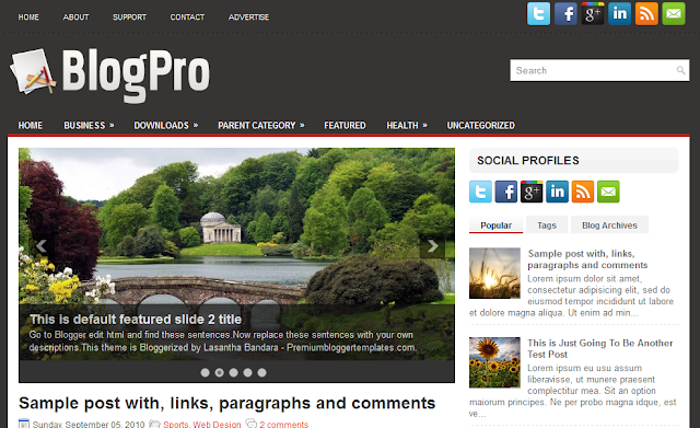 Blog Pro Blogger Template
