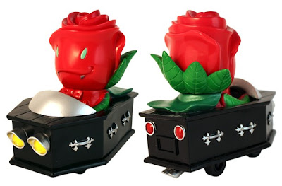 Super7 - Green Hell Rose Vampire Casket Cruiser Vinyl Figure by Josh Herbolsheimer