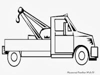 Gambar Mobil Derek Untuk Diwarnai