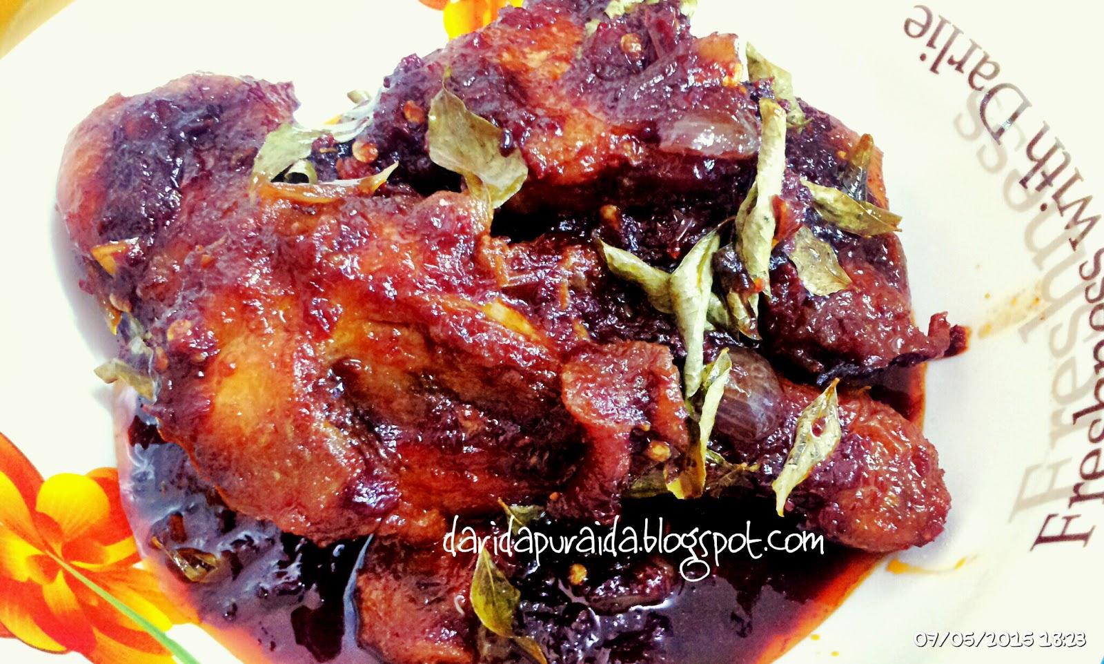 Daging Masak Hitam Mamak Ayam Masak Hitam Mamak