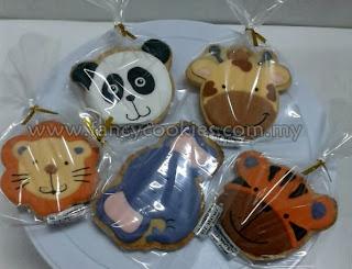 lion, elephant, tiger, panda, giraffe