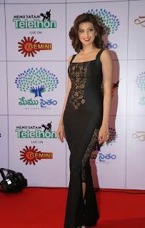 Actress Hamsa Nandini Latest Pictures in Long Dress at Memu Saitam Dinner with Stars Red Carpet  6.jpg