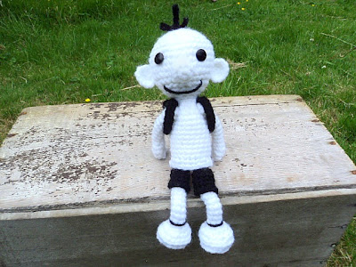 gift presents for boys: diary of a wimpy kid inspired crochet doll (greg)