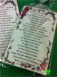 Gift Idea Christmas Cocoa poem