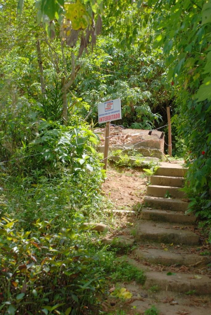 Área já interditada pela Defesa Civil no Rosário