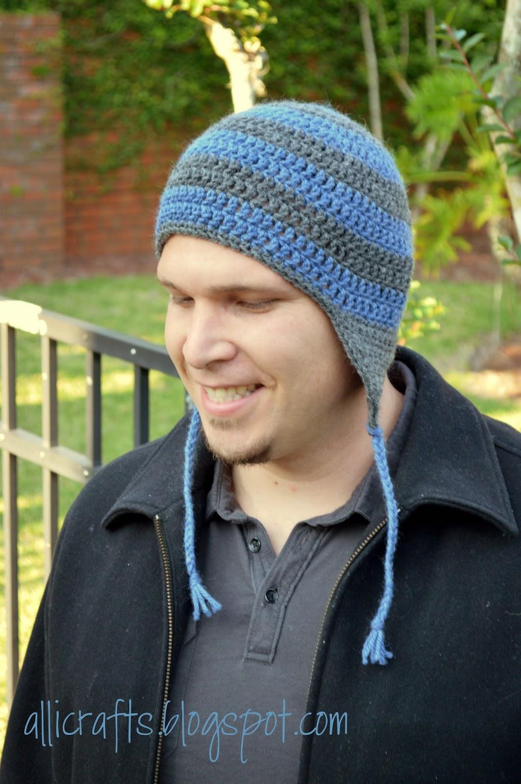 Alli Crafts Free Pattern Earflap Hat Adult Mediumlarge