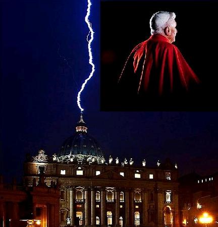 lightning st peter basilica rome