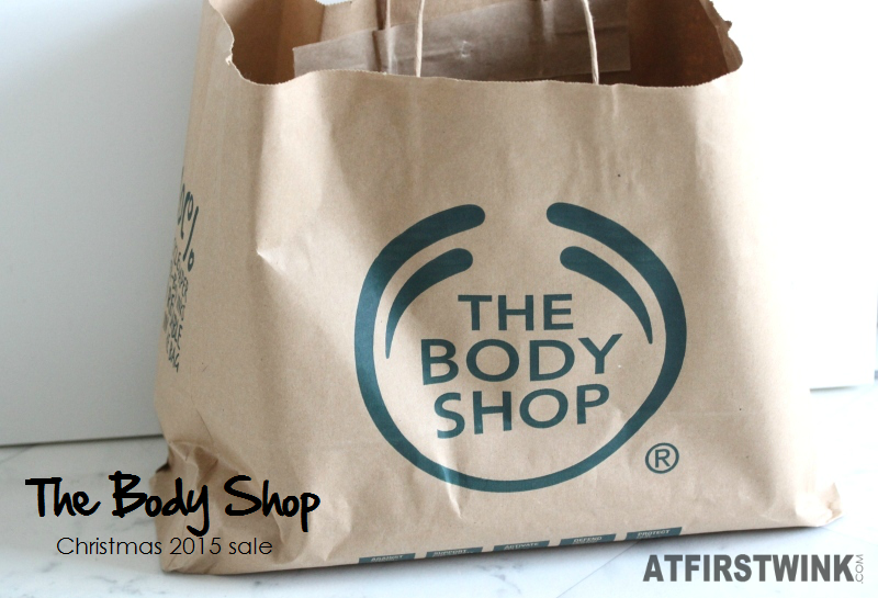 The Body Shop Christmas 2015 sale purchases paper bag