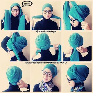 Berikut ini tutorial cara memakai hijab paris modern terbaru 2013