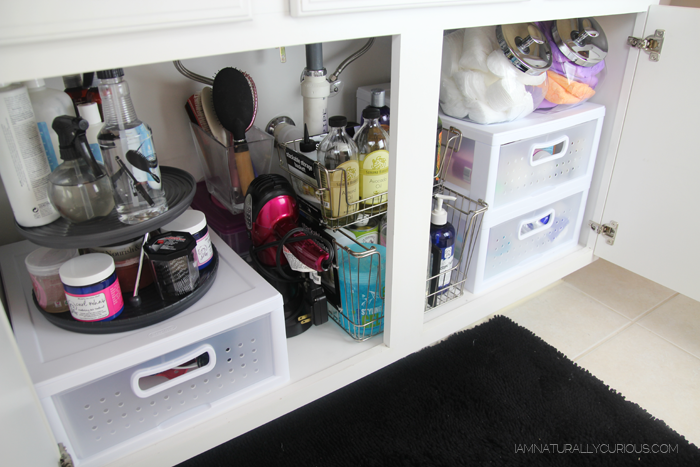 Naturally curious how i organize my hair product stash tips