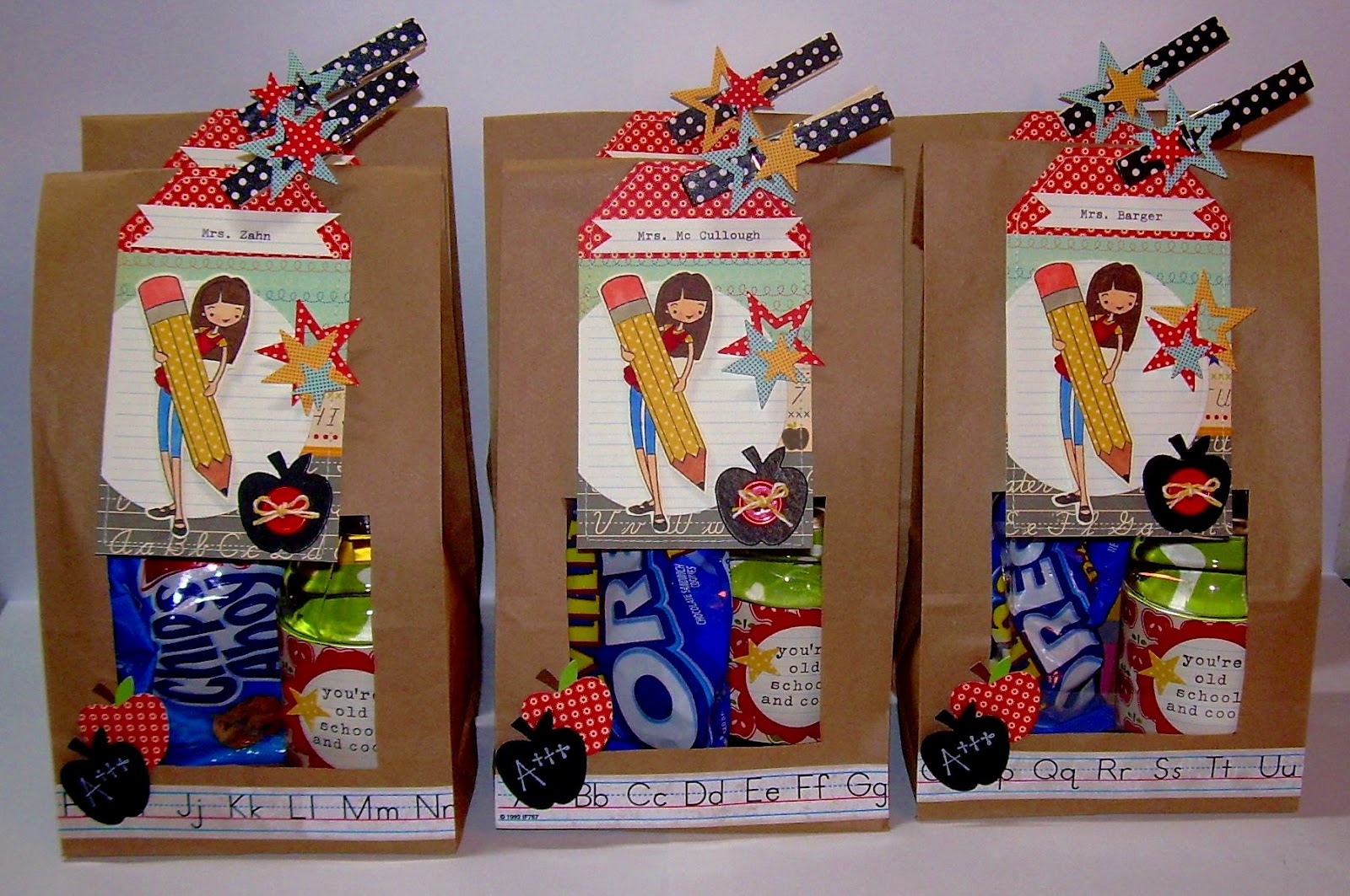 Bags for school teachers - Back To School Gift Bags