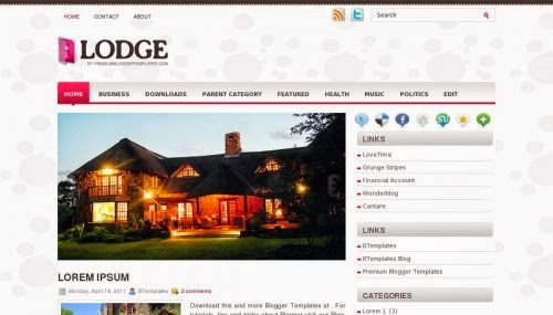 Lodge - Free Blogger Template