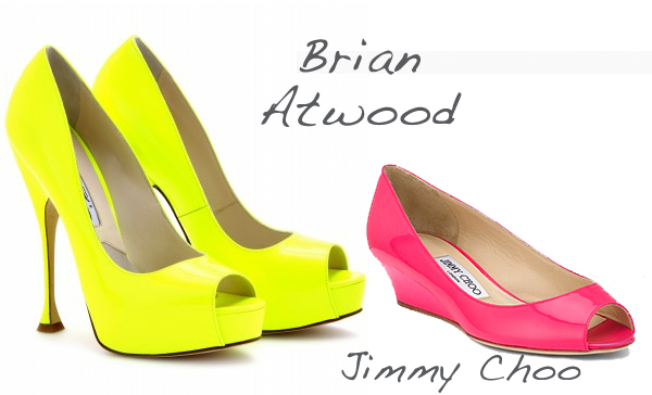 Fluo shoes on www.designandfashionrecipes.com