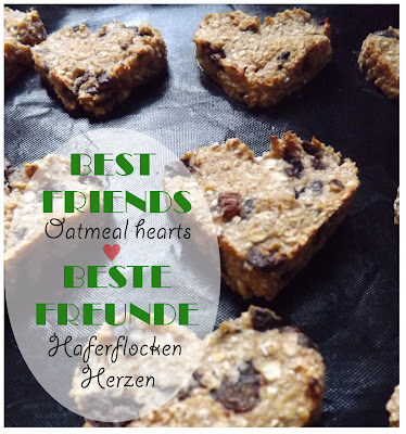 Recipe: Best Friends Oatmeal Hearts / Rezept: Beste Freunde Haferflocken Herzen | http://panpancrafts.blogspot.de/