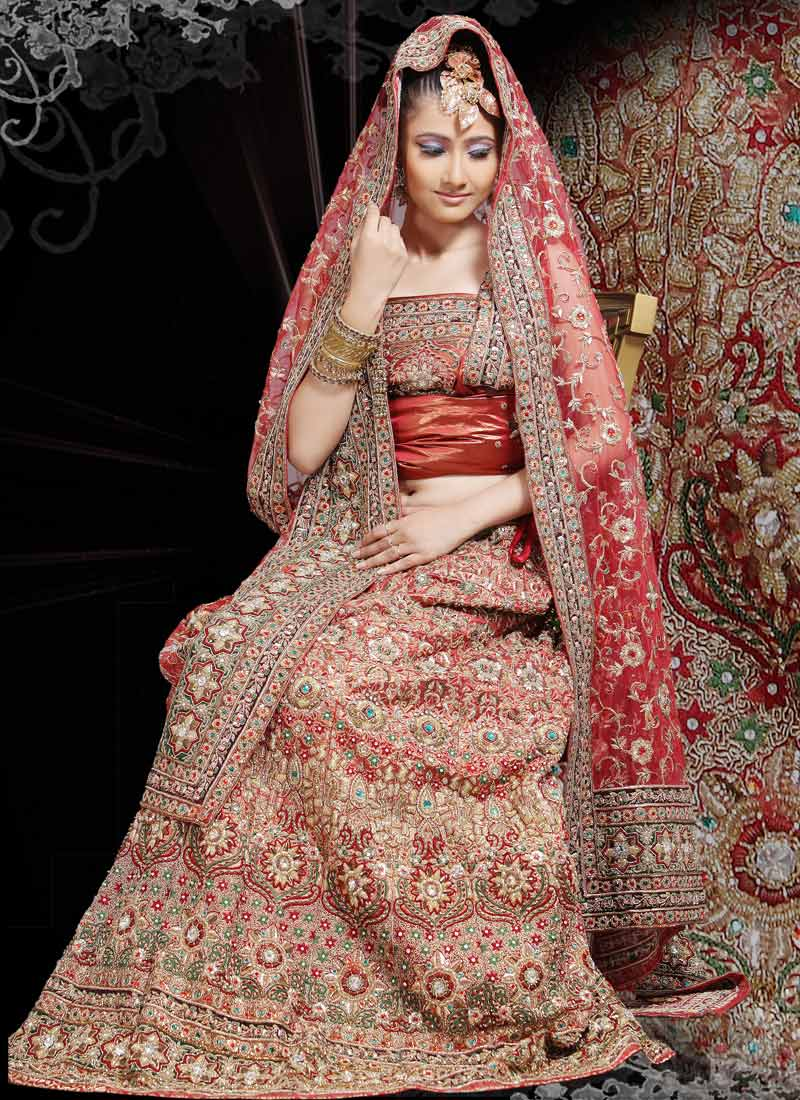 Muhlisah indian bridal lenghas for Indian bridal wedding dresses