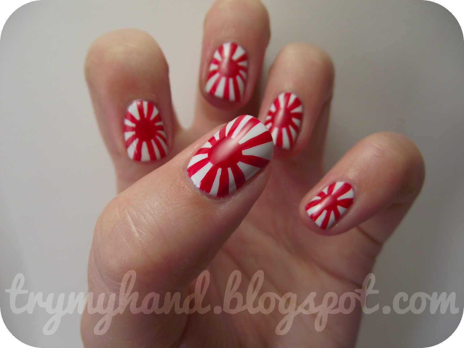Nail Art Ideas sun nail art : Try My Hand: Alphabet Nail Art Challenge : J for Japanese