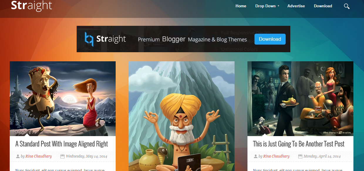 Straight Responsive Free Blogger Templates