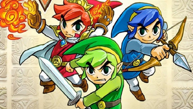 The legend os zelda Triforce-Heroes