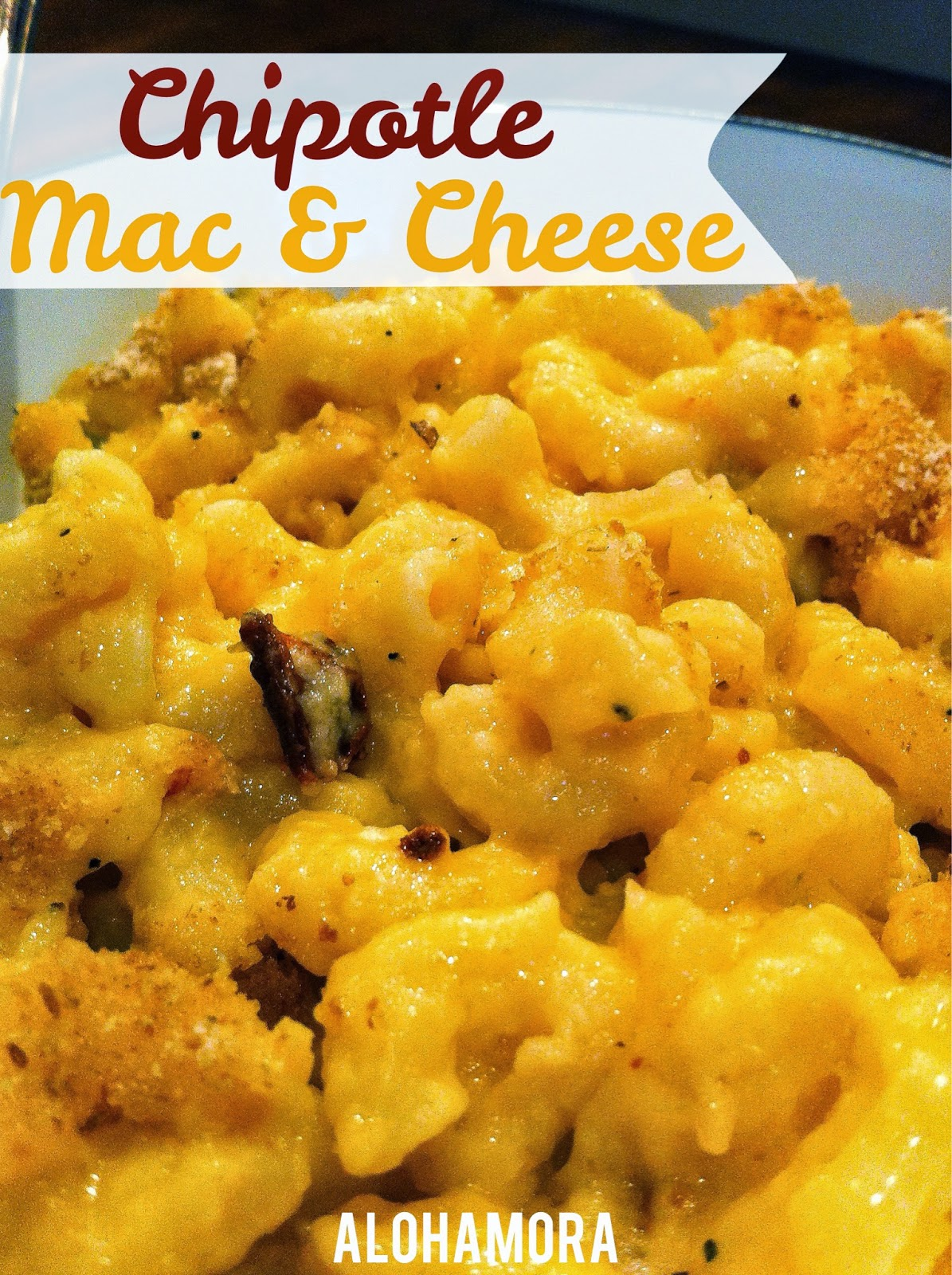 Amazing Chipotle Mac & Cheese with a smoky spicy flavor that kids/toddlers love as well as adults.  Easy to make, but it definitely makes this plain comfort food more fancy and amazing! Alohamora Open a  Book http://www.alohamoraopenabook.blogspot.com/