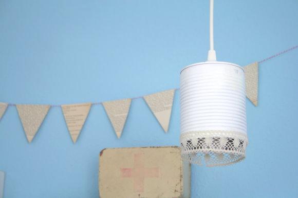 Aus der alten Konservendose wurde eine DIY Lampe
