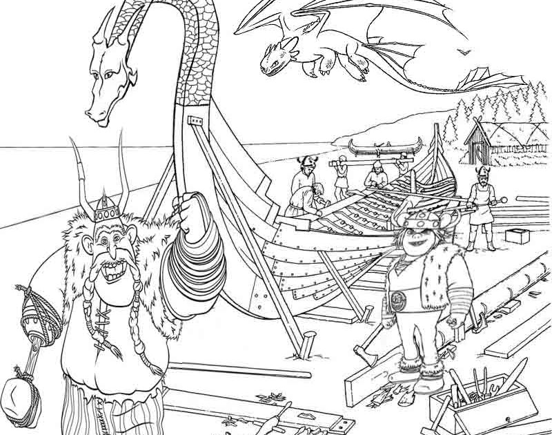 how to train your dragon coloring pages for kids to print vikings puff the magic dragon