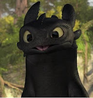 Toothless the Night Fury from How to Train Your Dragon