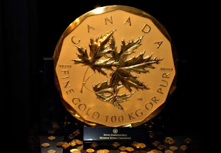 Largest gold coin 100-kilogram
