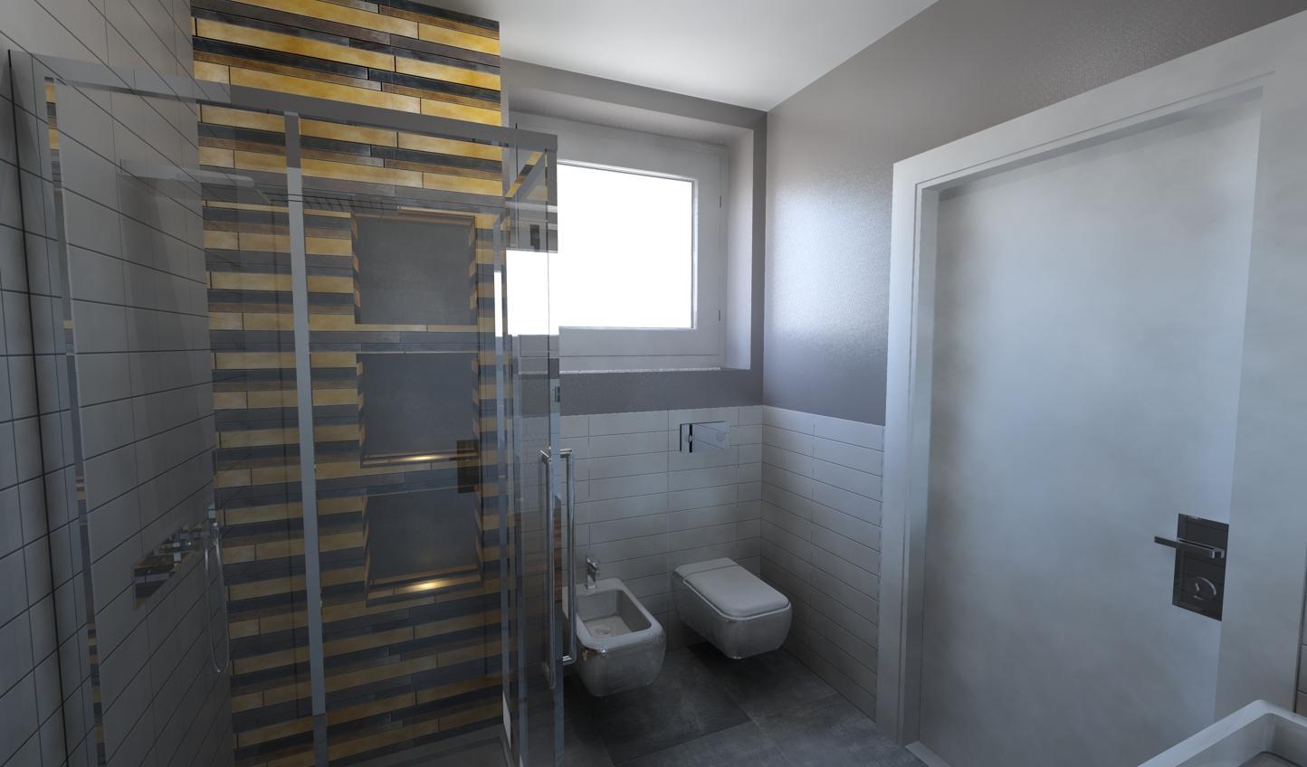 da Minha Casa esse è o Projeto em 3D do banheiro do meu Quarto #877344 1444 848