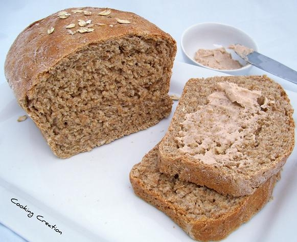 Cooking Creation: Honey Wheat Oat Bread with Honey ...