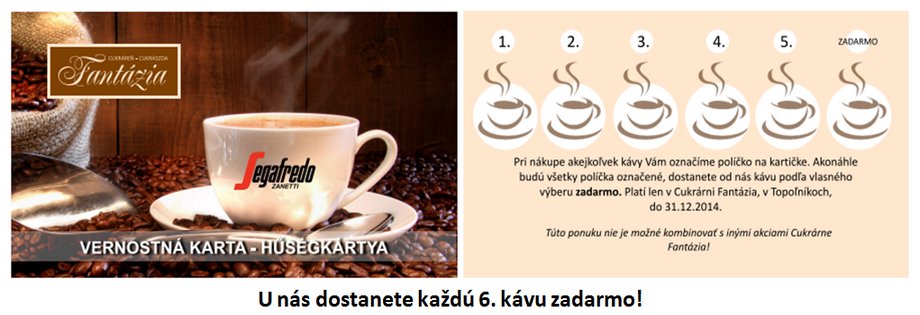 Výhodná ponuka pre kávičkárov