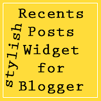 Recent posts widget for blog