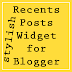 New Stylish Recent Posts widget for Blog