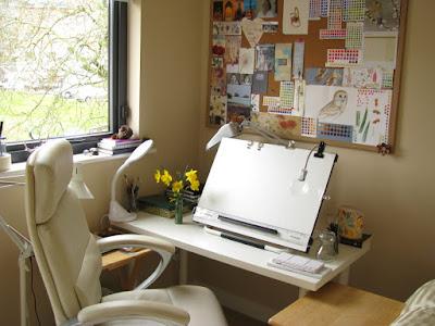 Tidy artist's studio Shevaun Doherty