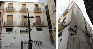 edificio histórico en ruina, calle Mártires 10