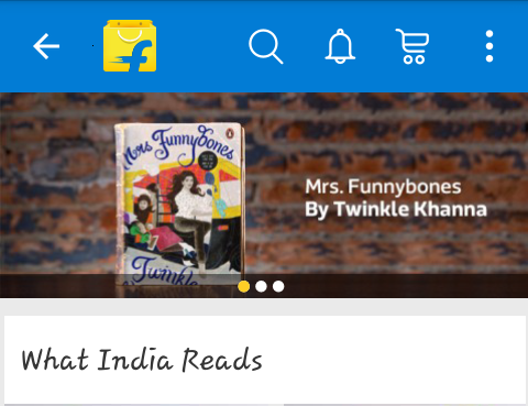 What India Reads Page on Flipkart App