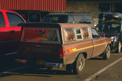 1983 Mitsubishi Mighty Max Turbo Diesel Pickup.