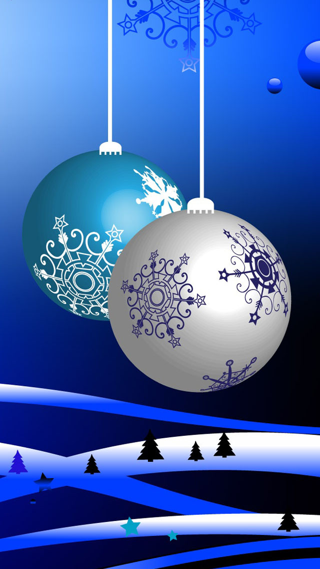 Decorative Christmas Balls iPhone 5 Wallpaper