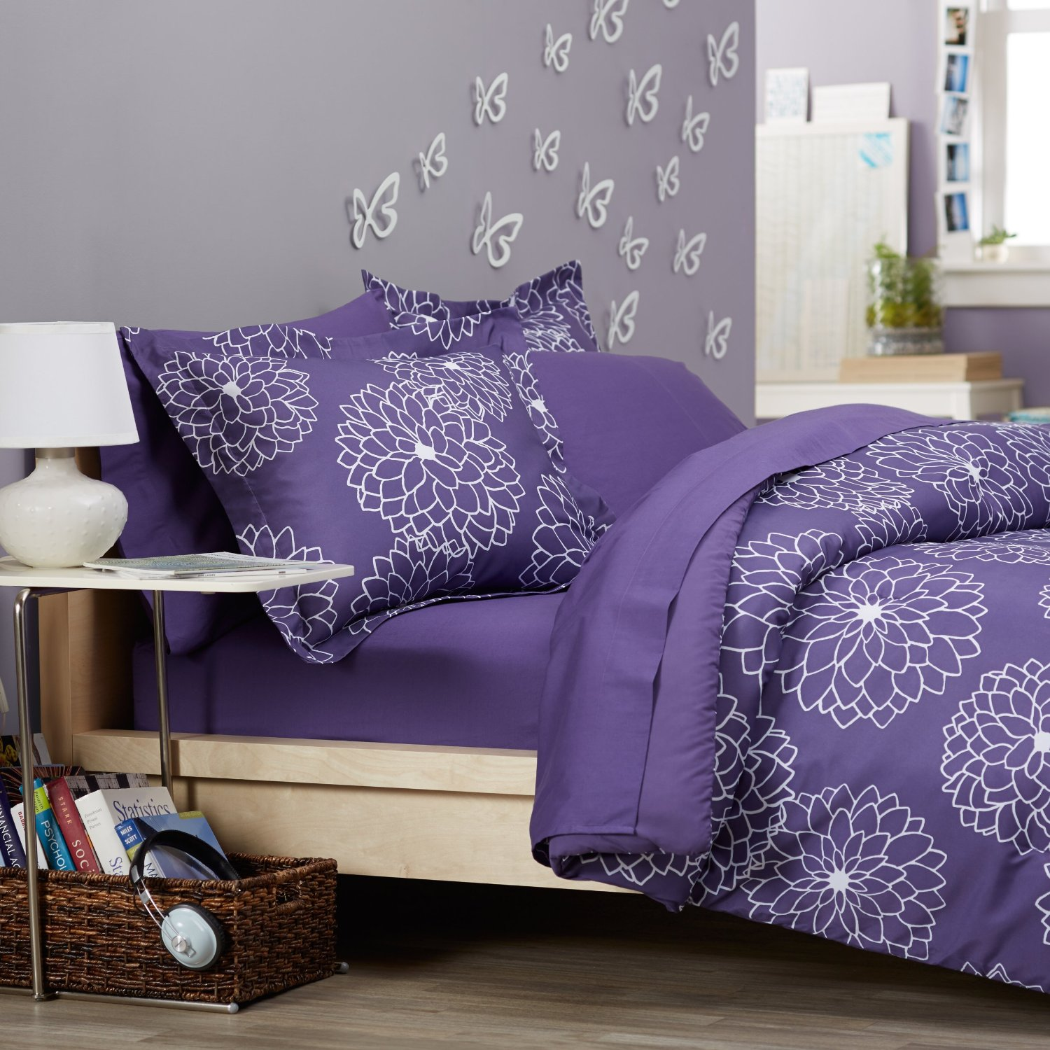 bedding of design purpleen lovely awesome purple plum queen bed light sets set