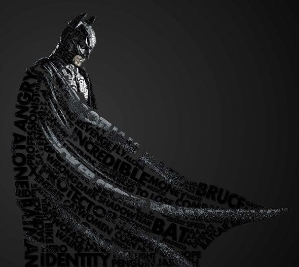 Midu1995 ilustrações quadrinhos super-heróis vilões tipografia design Batman